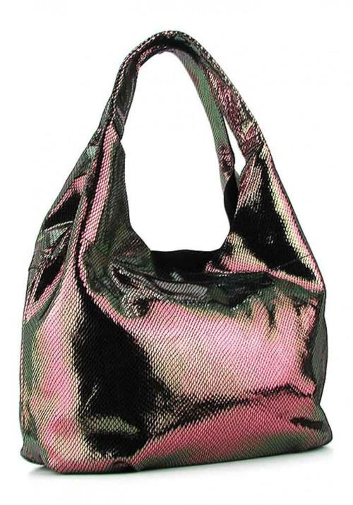 Женская кожаная сумка 6680 коричневая бронза