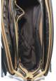 Коричневый женский клатч с кисточками фото