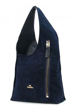 Фото Синяя женская замшевая сумка FR