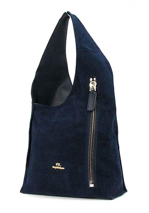 Синяя женская замшевая сумка FR