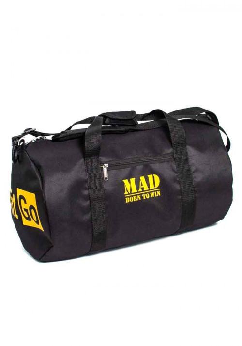 Спортивная мужская сумка FitGo TM MAD черная