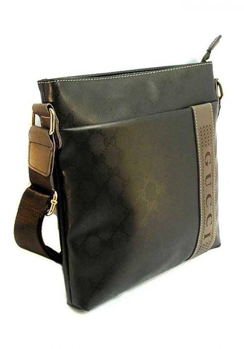 Коричневая сумка через плечо 2882