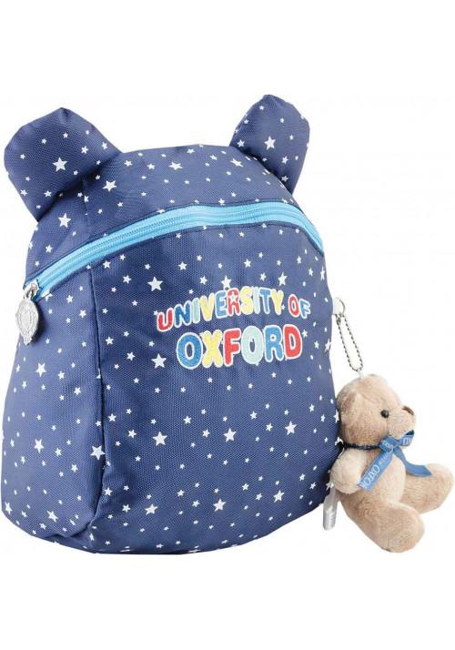 Детский рюкзак с ушками YES OX-17 синий