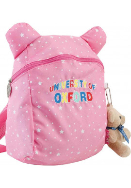 Детский рюкзак с ушками YES OX-17 розовый