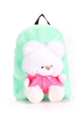 Фото Детский рюкзак из меха Kiddy Backpack зеленый