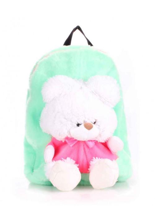 Детский рюкзак из меха Kiddy Backpack зеленый