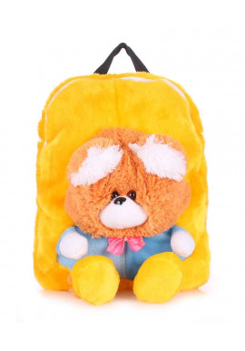 Фото Детский рюкзак из меха Kiddy Backpack желтый