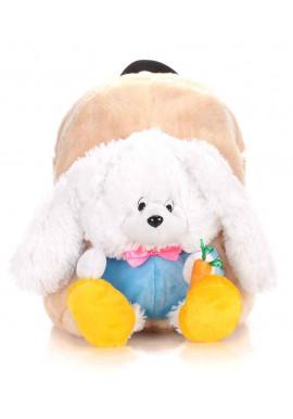 Фото Детский рюкзак из меха Kiddy Rabbit бежевый
