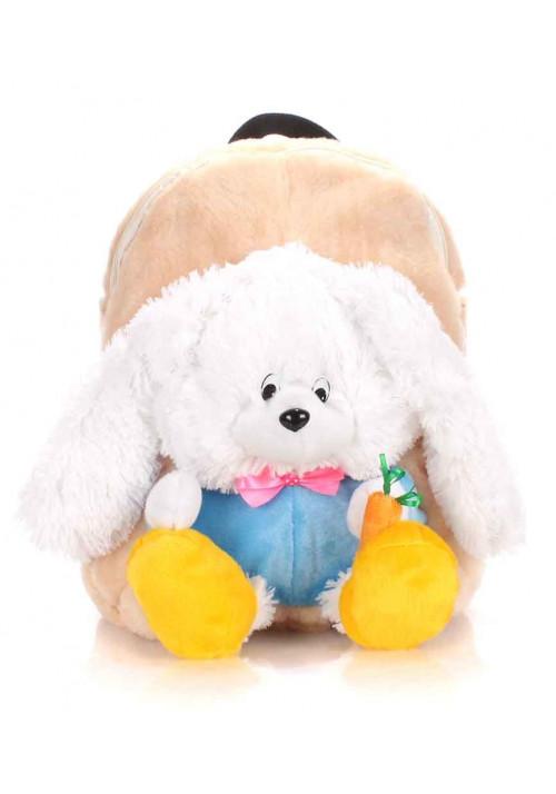 Детский рюкзак из меха Kiddy Rabbit бежевый