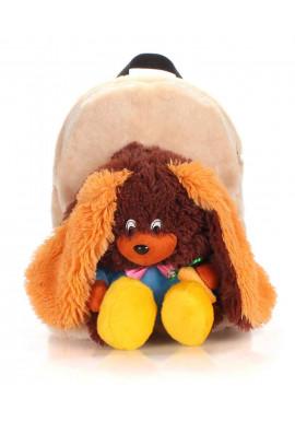 Фото Детский рюкзак из меха Kiddy Rabbit Brown