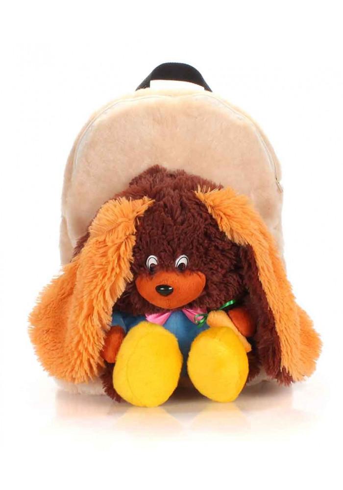 Детский рюкзак из меха Kiddy Rabbit Brown