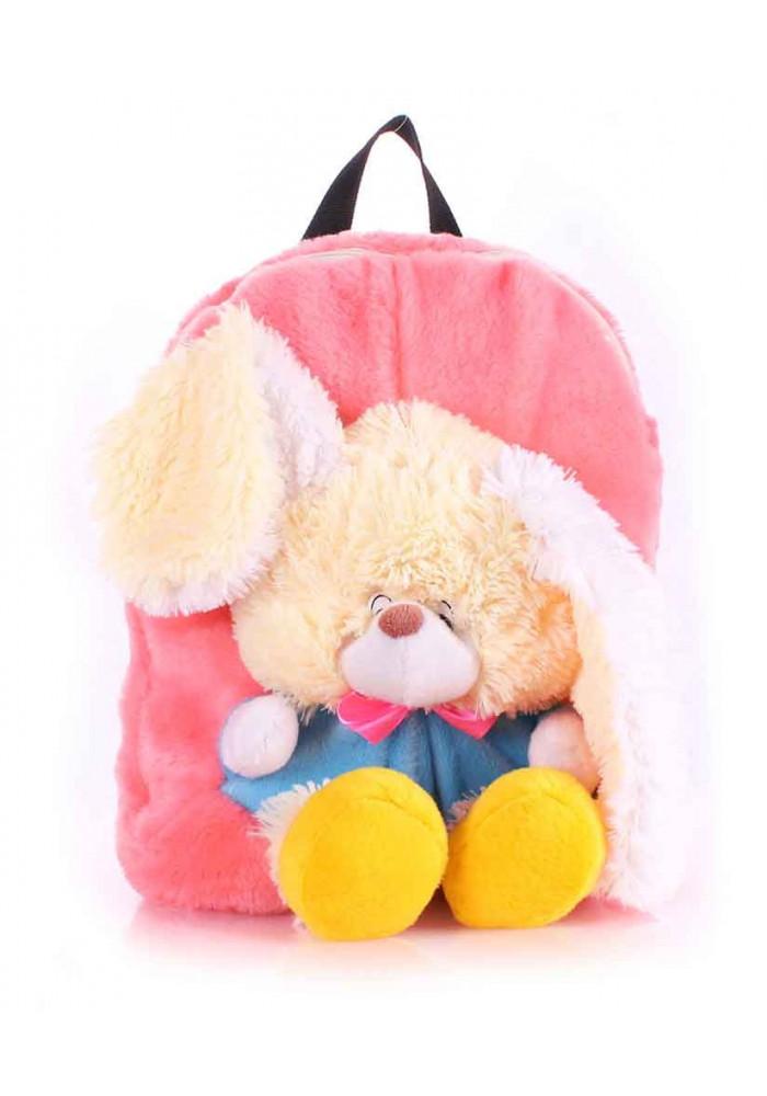 Детский рюкзак из меха Kiddy Rabbit розовый
