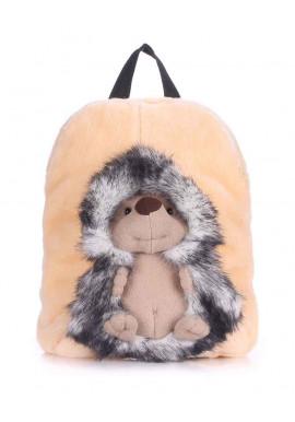 Фото Детский рюкзак из меха Kiddy с ёжиком