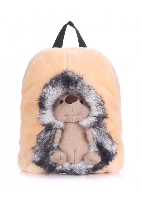 Детский рюкзак из меха Kiddy с ёжиком