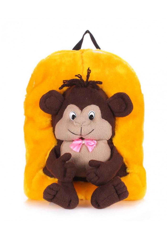 Фото Детский рюкзак из меха Kiddy с обезьянкой