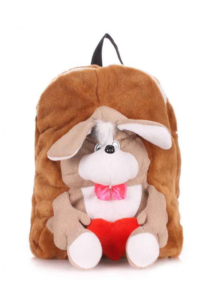 Детский меховой рюкзак Kiddy с собакой