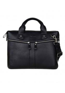 Фото Мужская сумка из кожи ISSA HARA черная