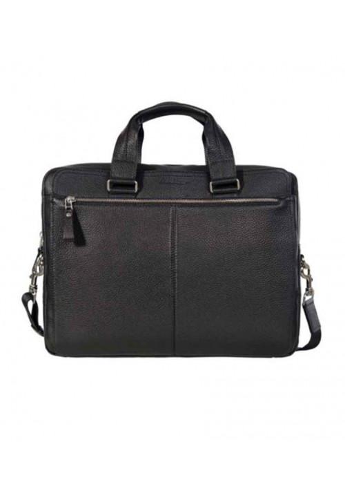 Мужская сумка из натуральной кожи ISSA HARA черная