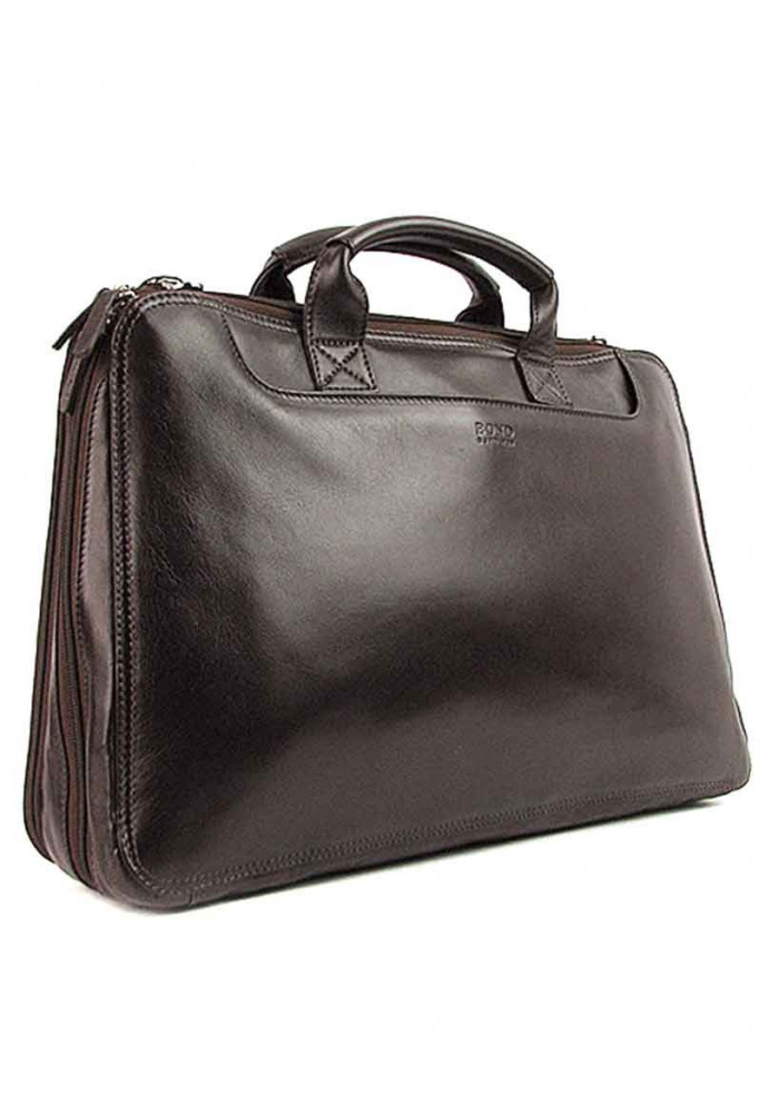 Мужской кожаный портфель на 2 отделения Bond 1205