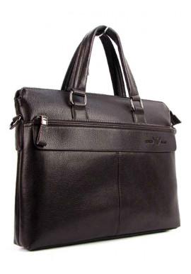 Фото Мужской кожаный портфель AJ 6618 коричневый