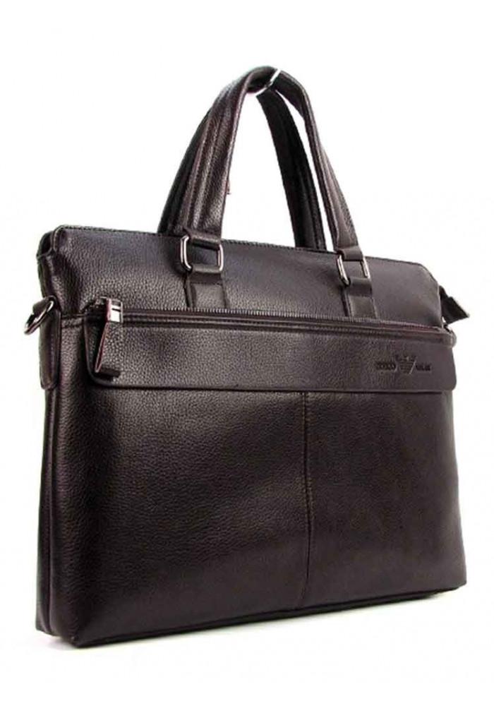 Мужской кожаный портфель AJ 6618 коричневый