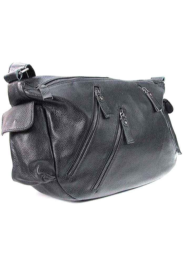 Черная женская кожаная сумка 6627