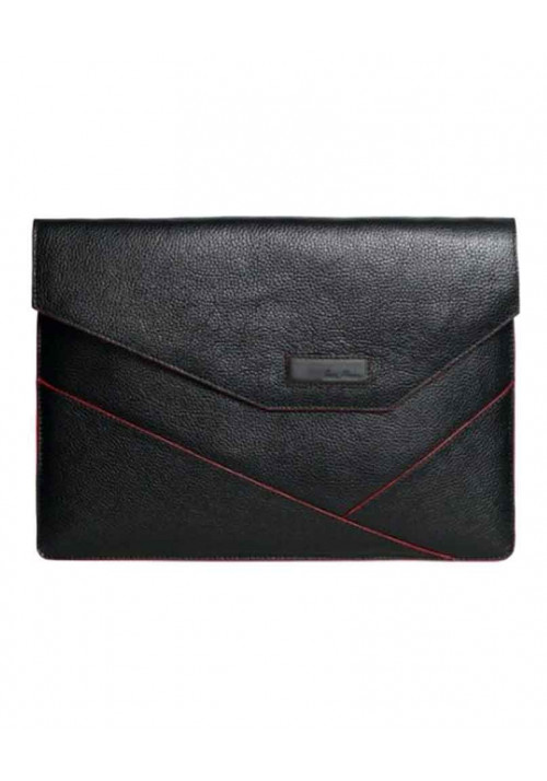 Папка для ноутбука MacBook 13″ ISSA HARA черная с красной вставкой