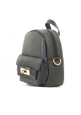 Фото Маленький женский клатч в виде рюкзачка R-BLACK