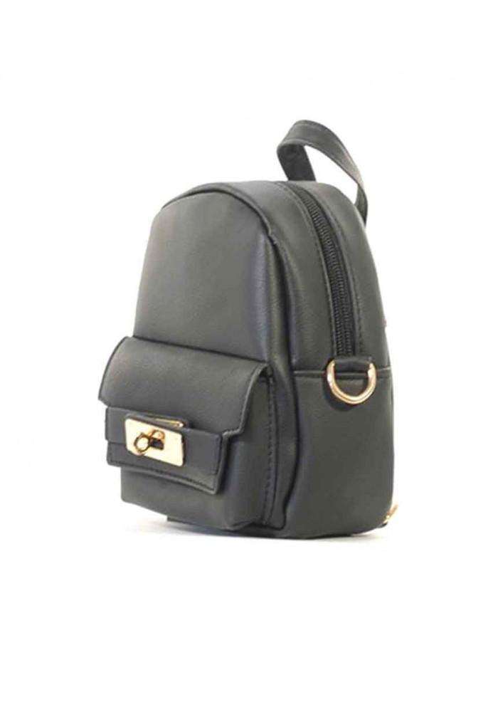 Маленький женский клатч в виде рюкзачка R-BLACK