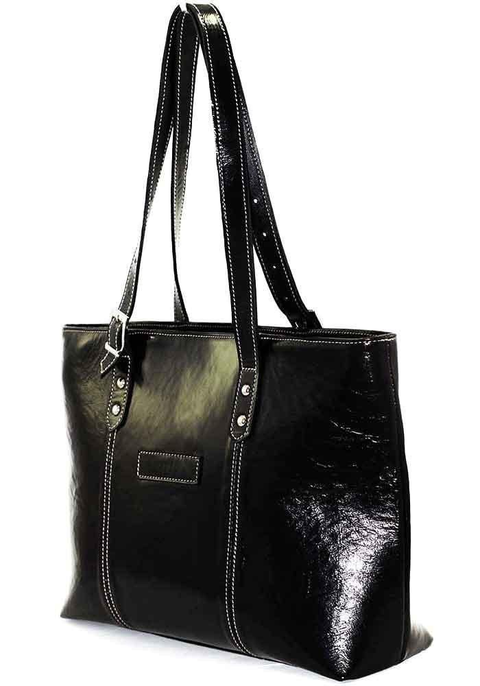 Кожаная женская сумка черная Vatto