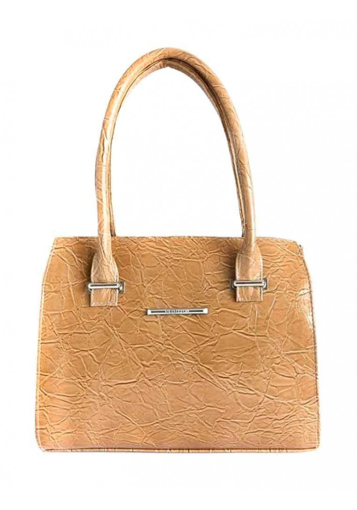 Качественная сумка женская Камелия светло коричневая