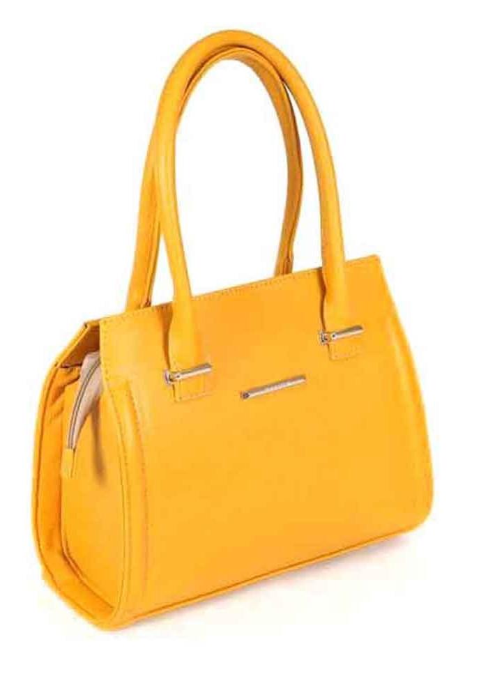 Качественная сумка женская Камелия желтая