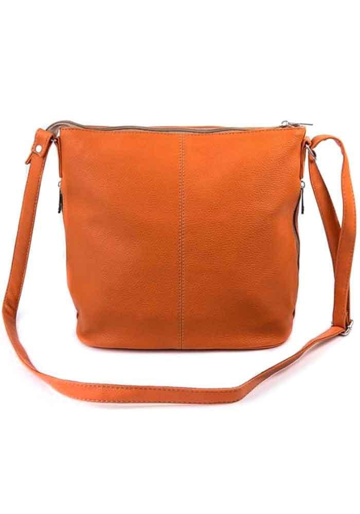 Фото Сумка женская через плечо Камелия оранжевая М78-2