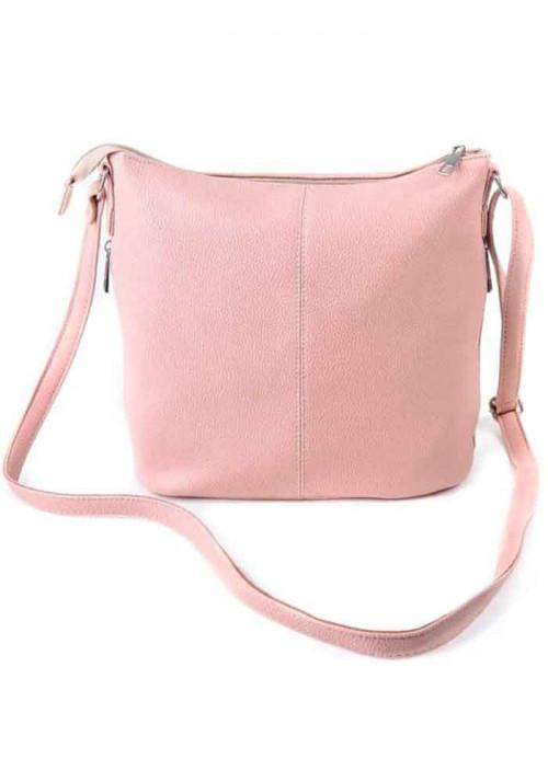 Сумка женская через плечо Камелия розовая