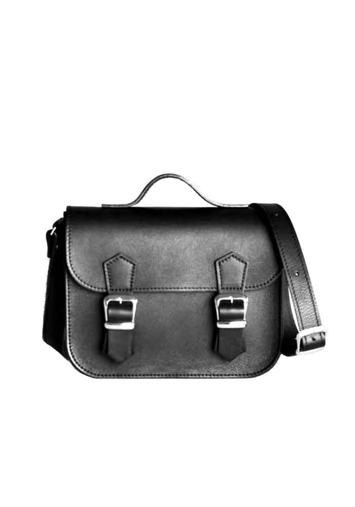 Фото Женская кожаная сумка Satchel Mini Black
