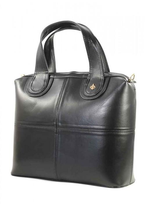 Черный глянцевый женский портфель Betty Pretty