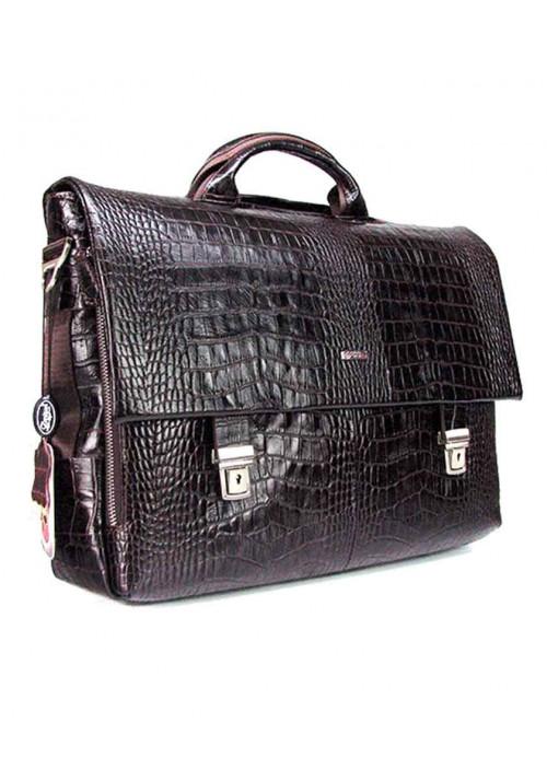Кожаный мужской портфель Desisan 1315-19 коричневый