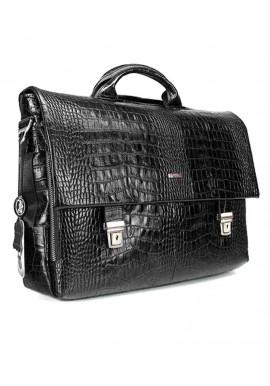 Фото Кожаный мужской портфель Desisan 1315-19 черный