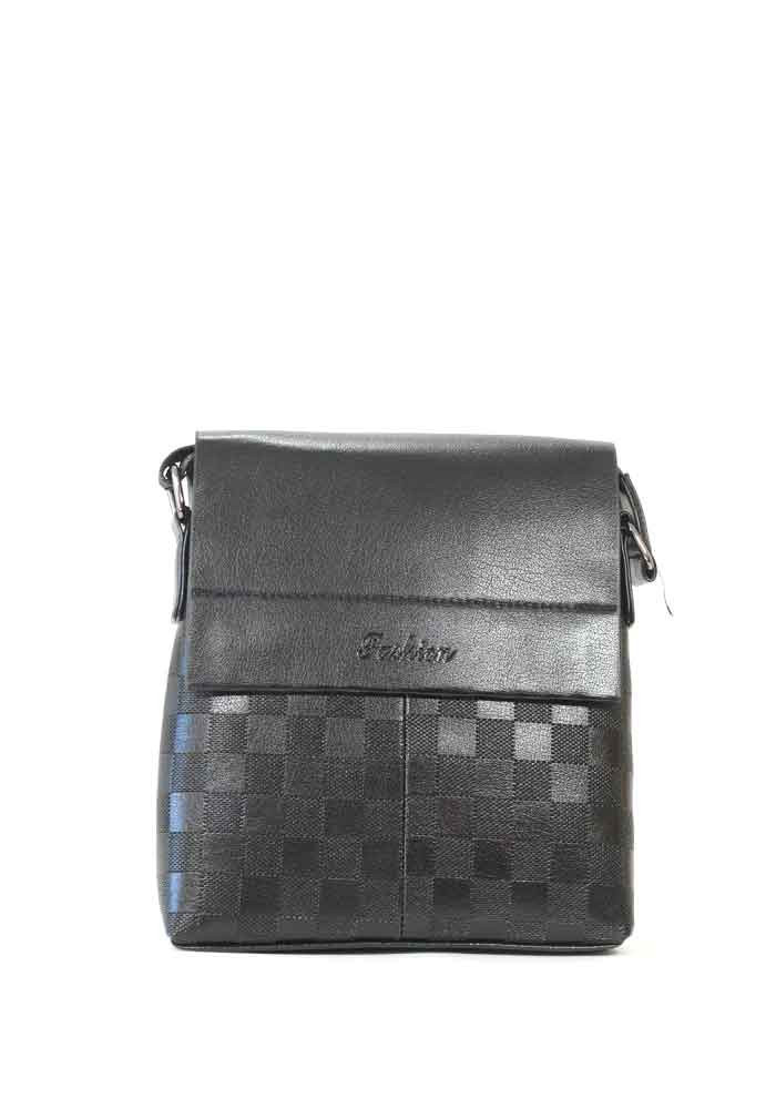 Мужская сумка через плечо черная Fashion 105