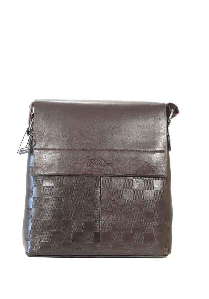Мужская сумка через плечо Fashion коричневая 105-3