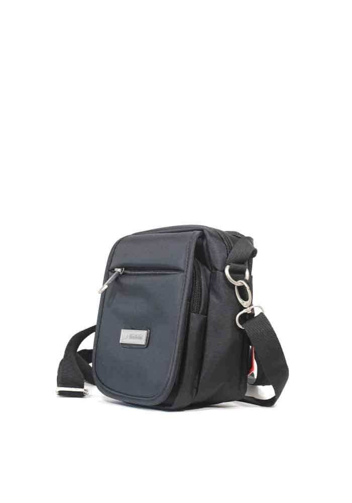 Черная мужская сумка через плечо Leadhake