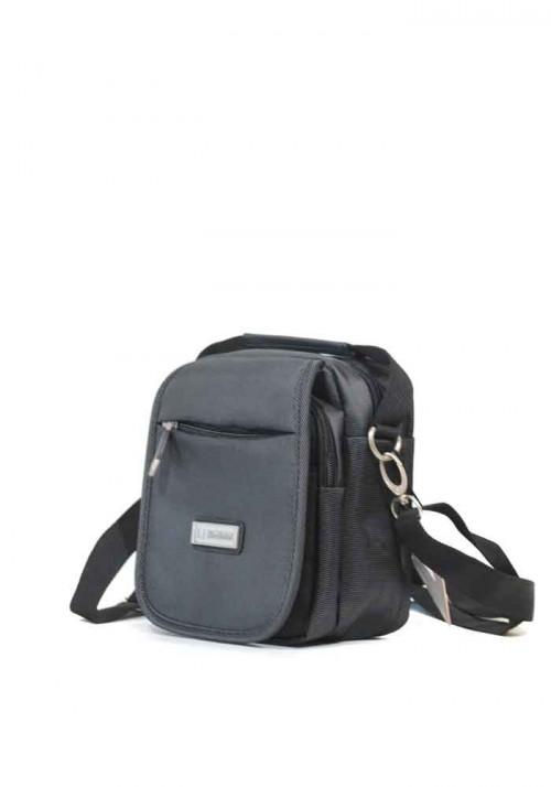 Серая мужская сумка через плечо Leadhake