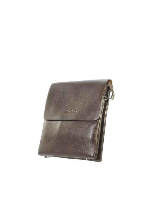 Маленькая коричневая мужская сумка через плечо Fashion
