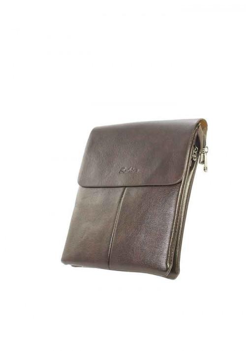Коричневая мужская сумка через плечо Fashion - Фото