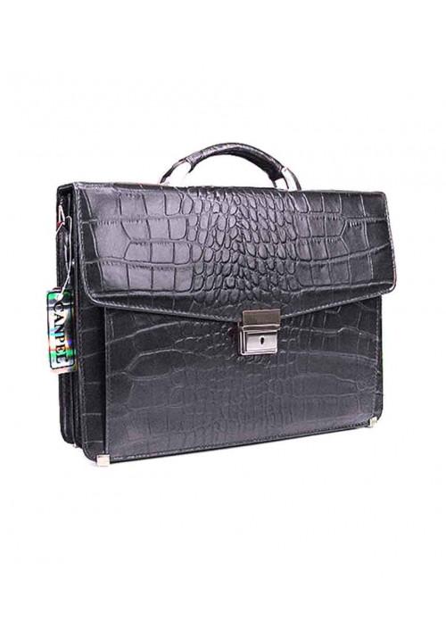 Мужской классический кожаный портфель Canpellini 2026-11