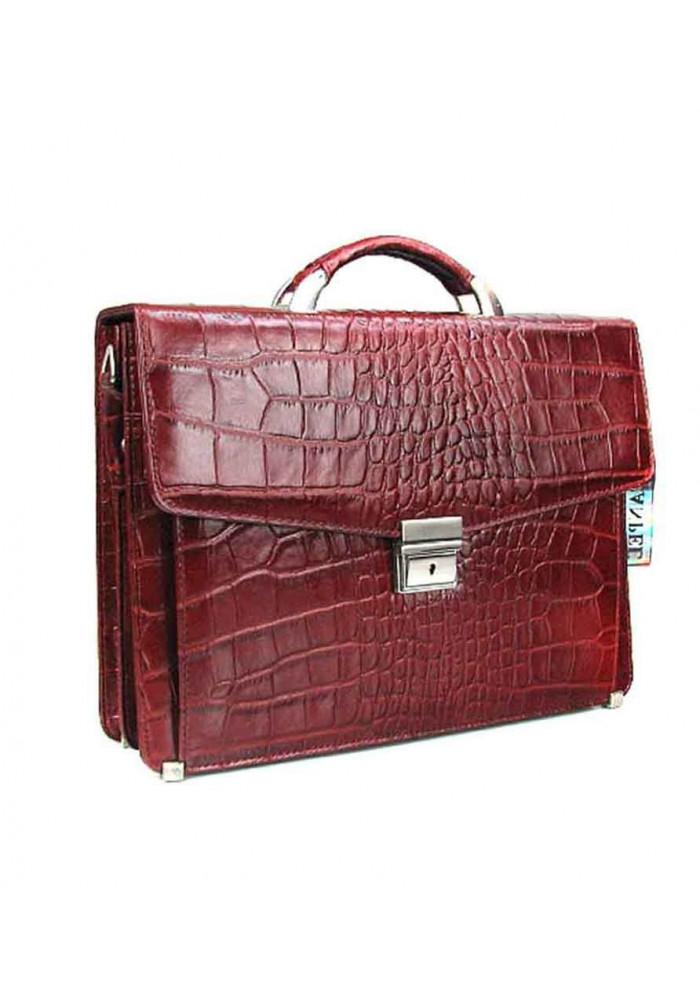 Бордовый мужской кожаный портфель Canpellini 2026-14