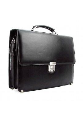 Фото Мужской черный кожаный портфель Canpellini 3023-1