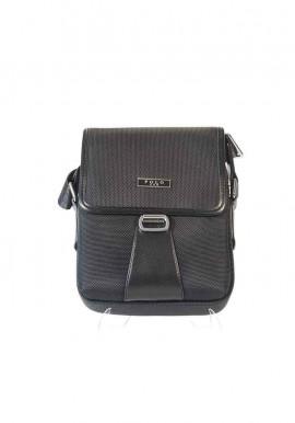 Фото Черная тканевая мужская сумка через плечо POLO 670-1