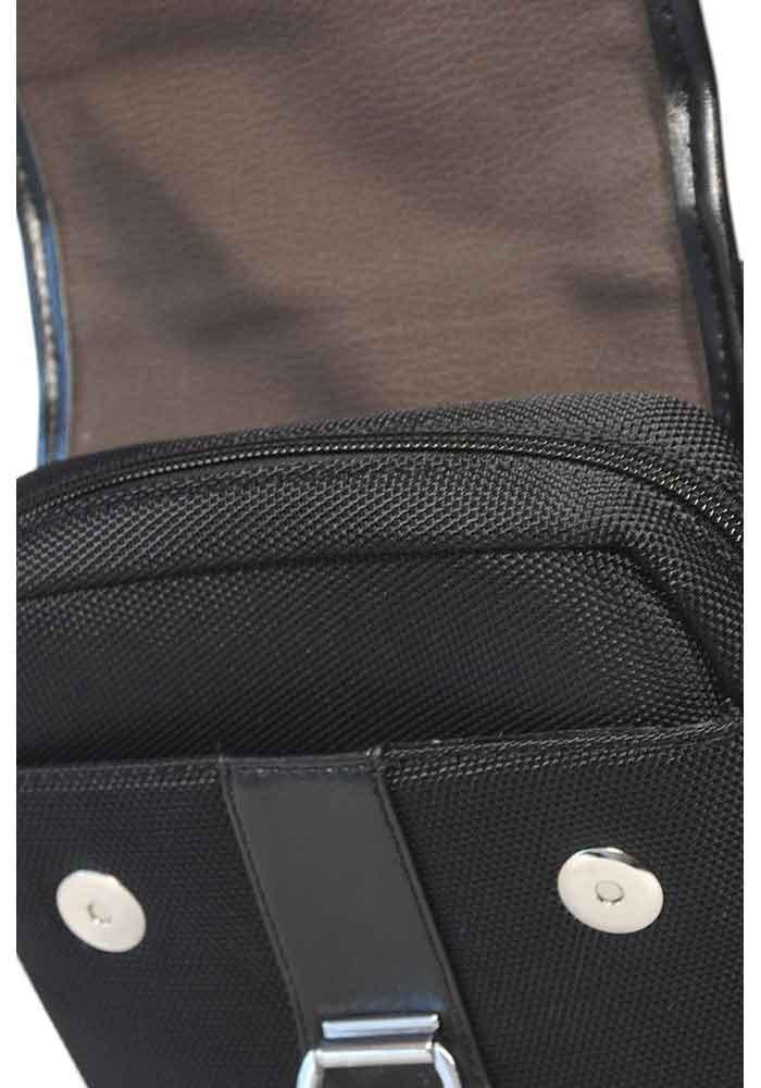 848862dcb7f1 Черная тканевая мужская сумка через плечо POLO, фото №5 - интернет магазин  stunner.