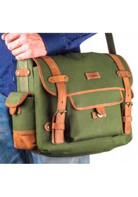 Фото Мужская сумка мессенджер цвета хаки